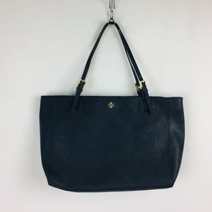 Tory Burch Emerson York Large Buckle Tote Navy Blu